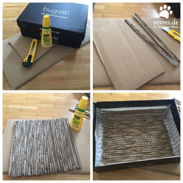 Gut gemocht Kratzkarton für Katzen selber machen - revvet.de UU42