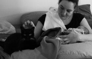 katze und baby